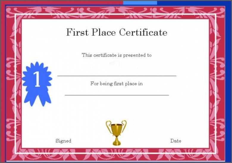1st 2nd 3rd Place Certificate Template Templates First Award Throughout Firs Awards Certificates Template Certificate Of Achievement Template Award Certificate