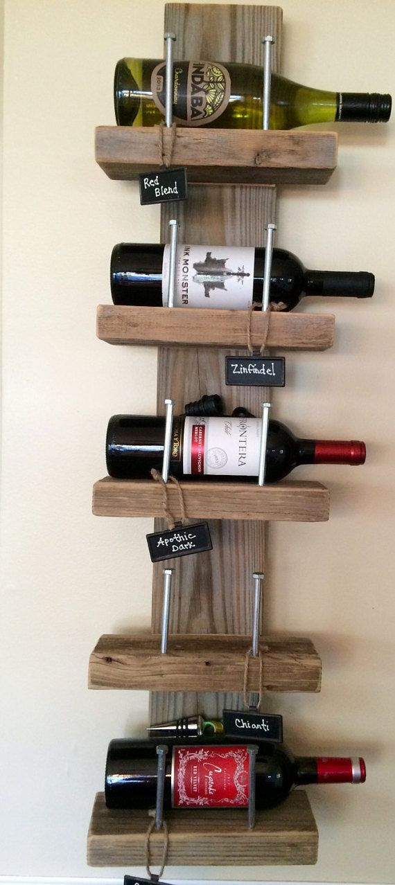 Rustico vino rack di jmfarmstyle su etsy for the home for Portabottiglie vino fai da te
