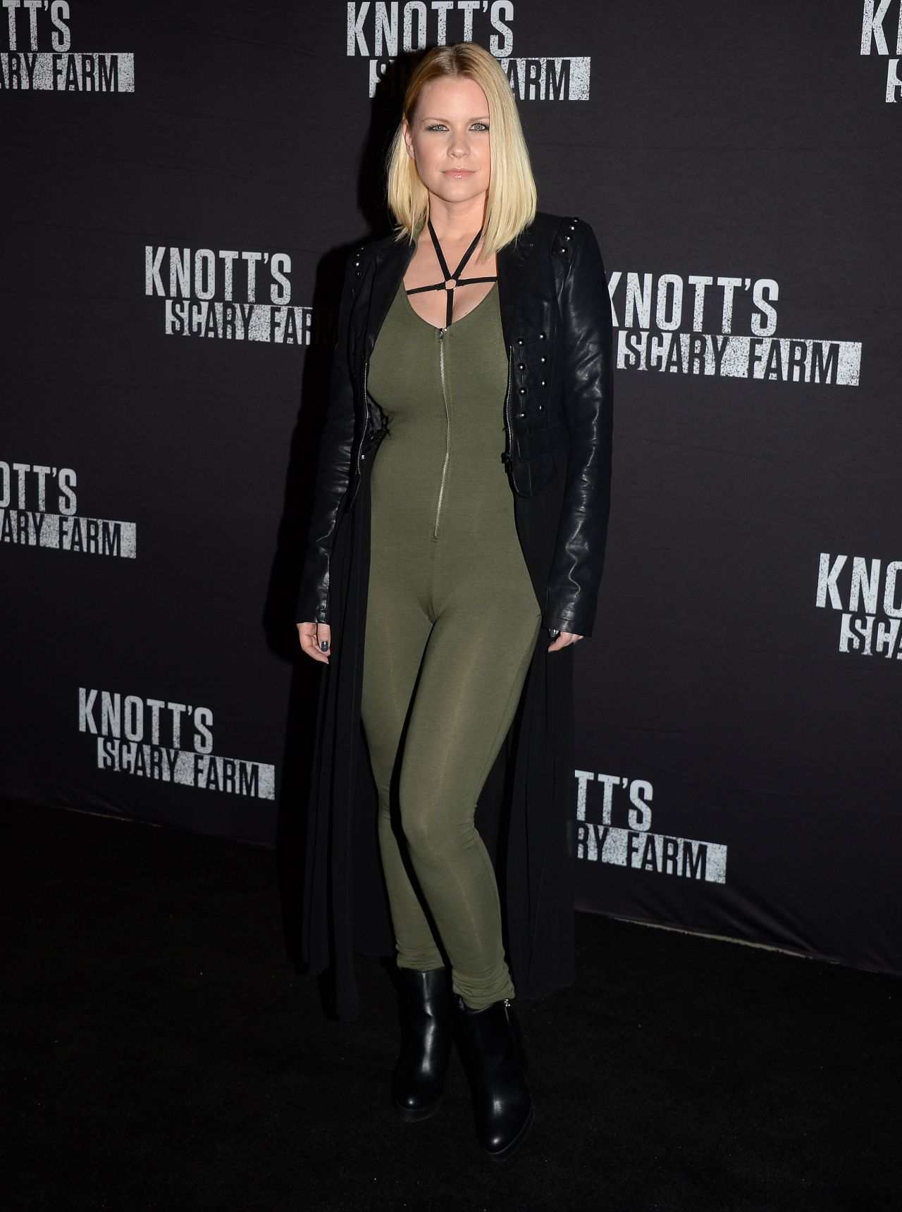 Carrie Keagan Knotts Scary Farm Opening Night in Buena Park CA Sep