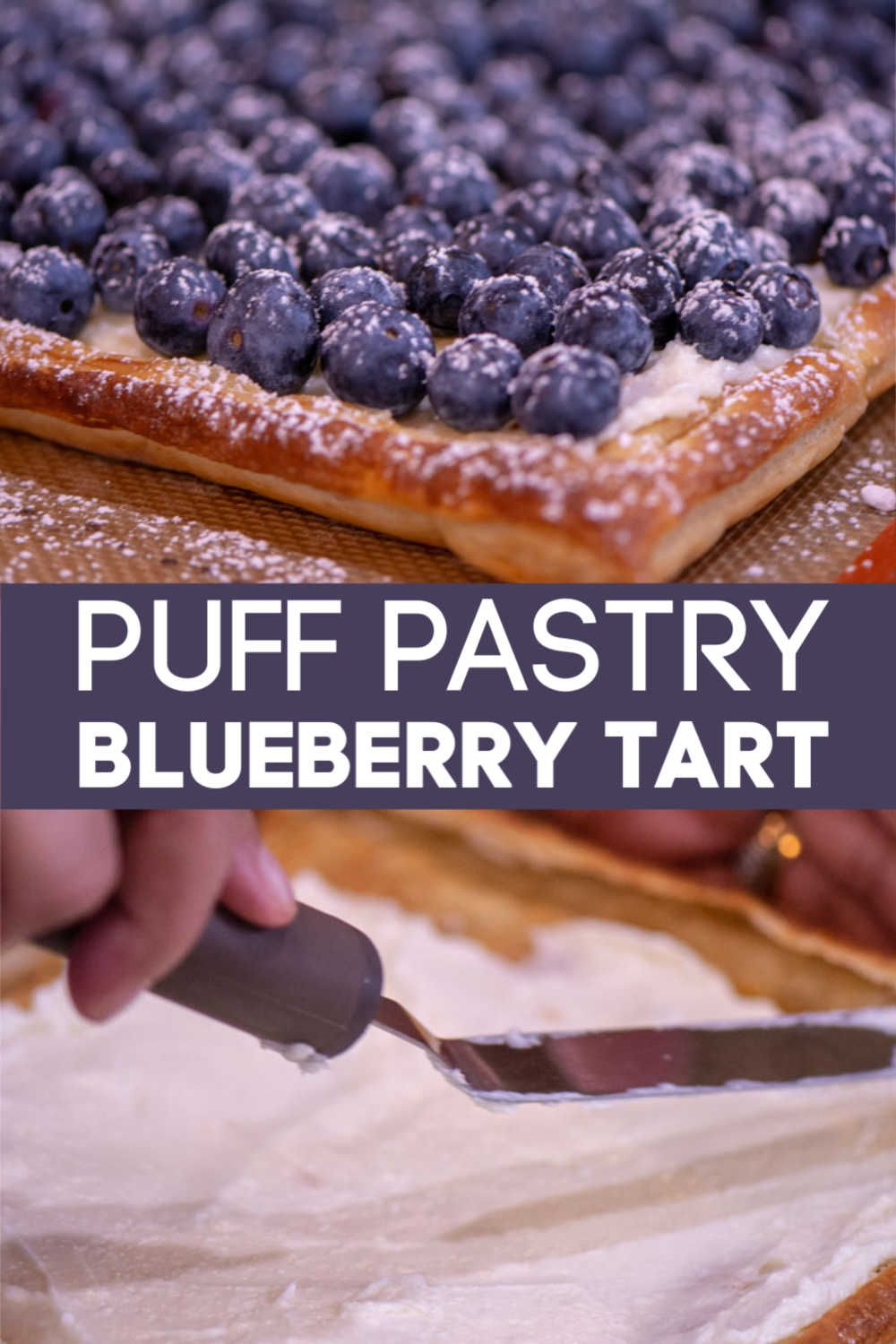 Quick and Easy Puff Pastry Blueberry Tart When You Need to Impress Guests! {WW 8 Points, Vegetarian}