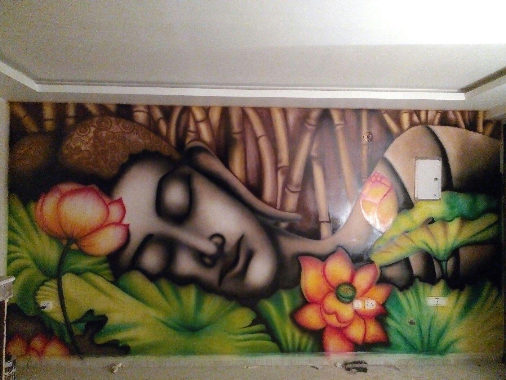 Wall Painting Buddha Sleeping Buddha Buddhist Art Buddha