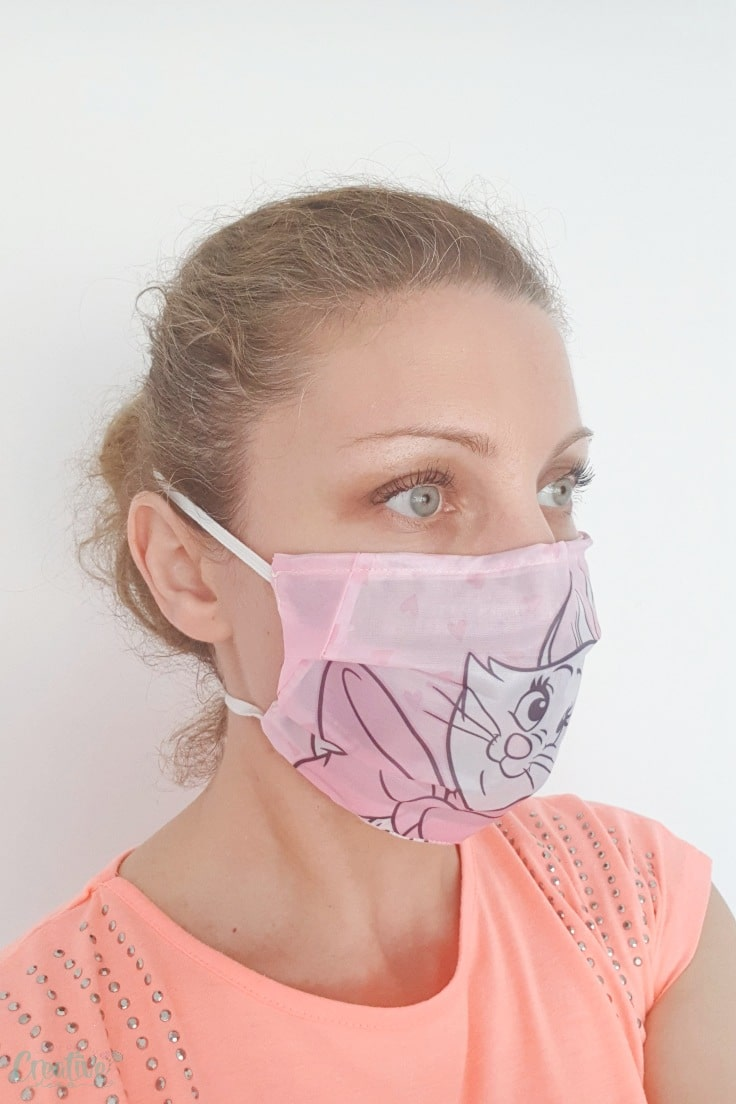 This handmade face mask won't get wet from droplets