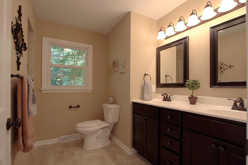 Master Bathroom Vanity And Mirrors Dark Chocolate Master