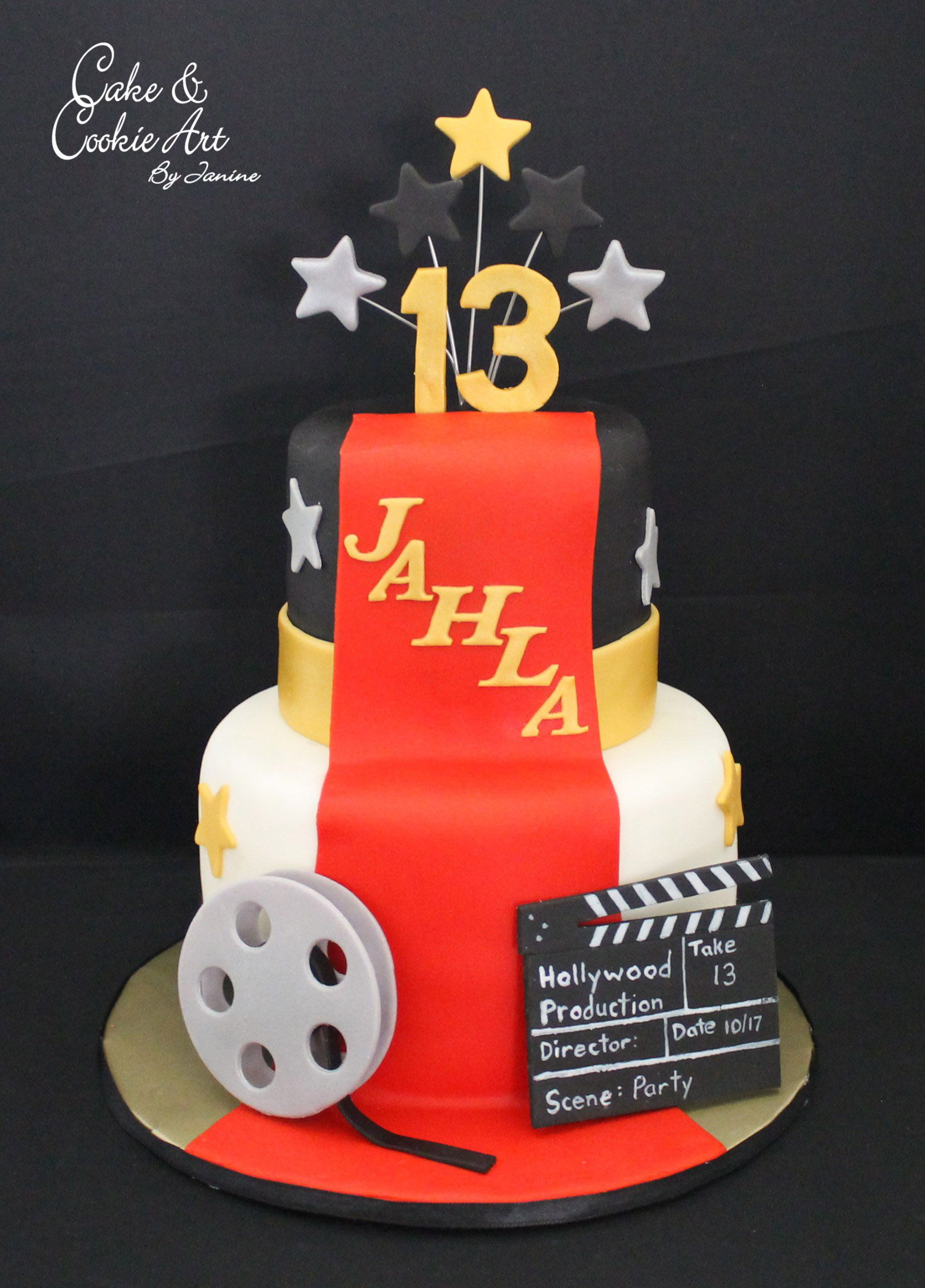 Hollywood theme cake cake themed cakes cake cookies