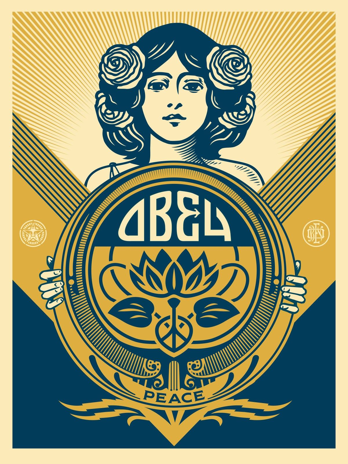 Shepard Fairey Obey Guns And Roses 11 x 14 poster