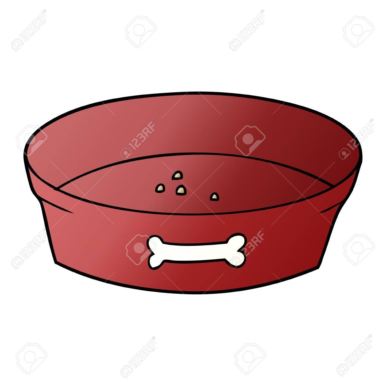 Hand Drawn Cartoon Empty Dog Food Bowl Illustration Sponsored