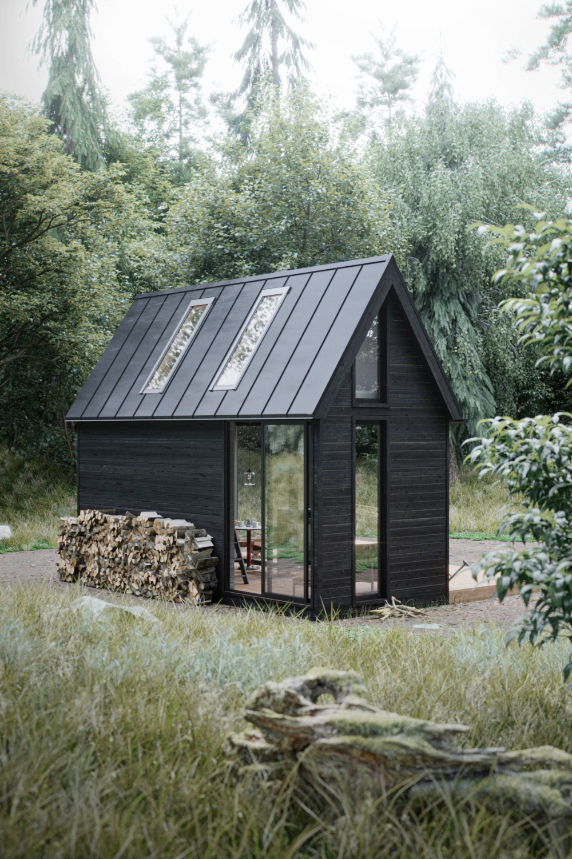 Scandinavian House On Behance Tiny House Cabin Tiny House Design Small House