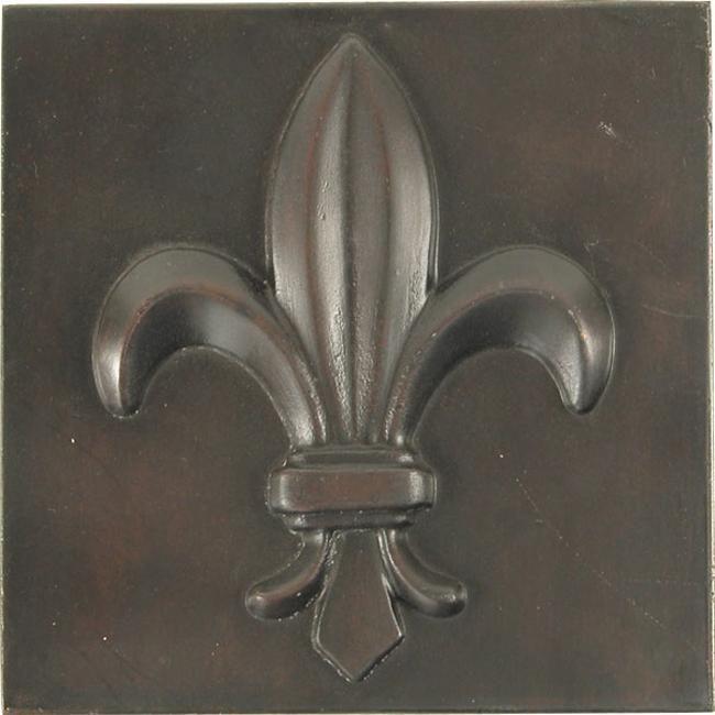 Love For An Accent With Tile In Bathroom Fleur De Lis Dark Bronze Tiles Set Of