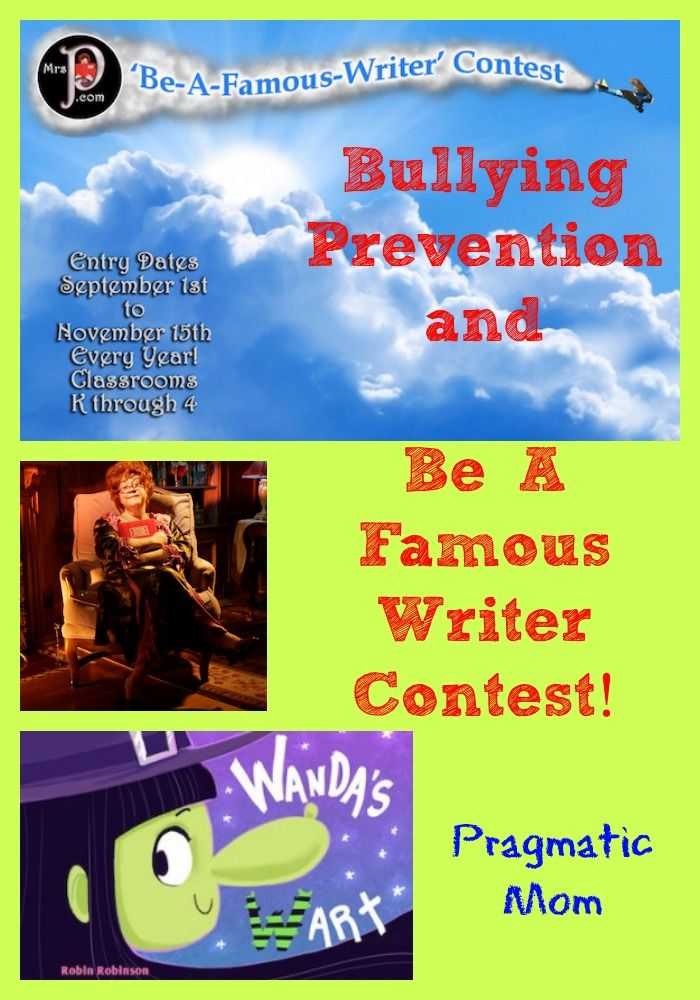 Bullying Prevention and Be A Famous Writer Contest