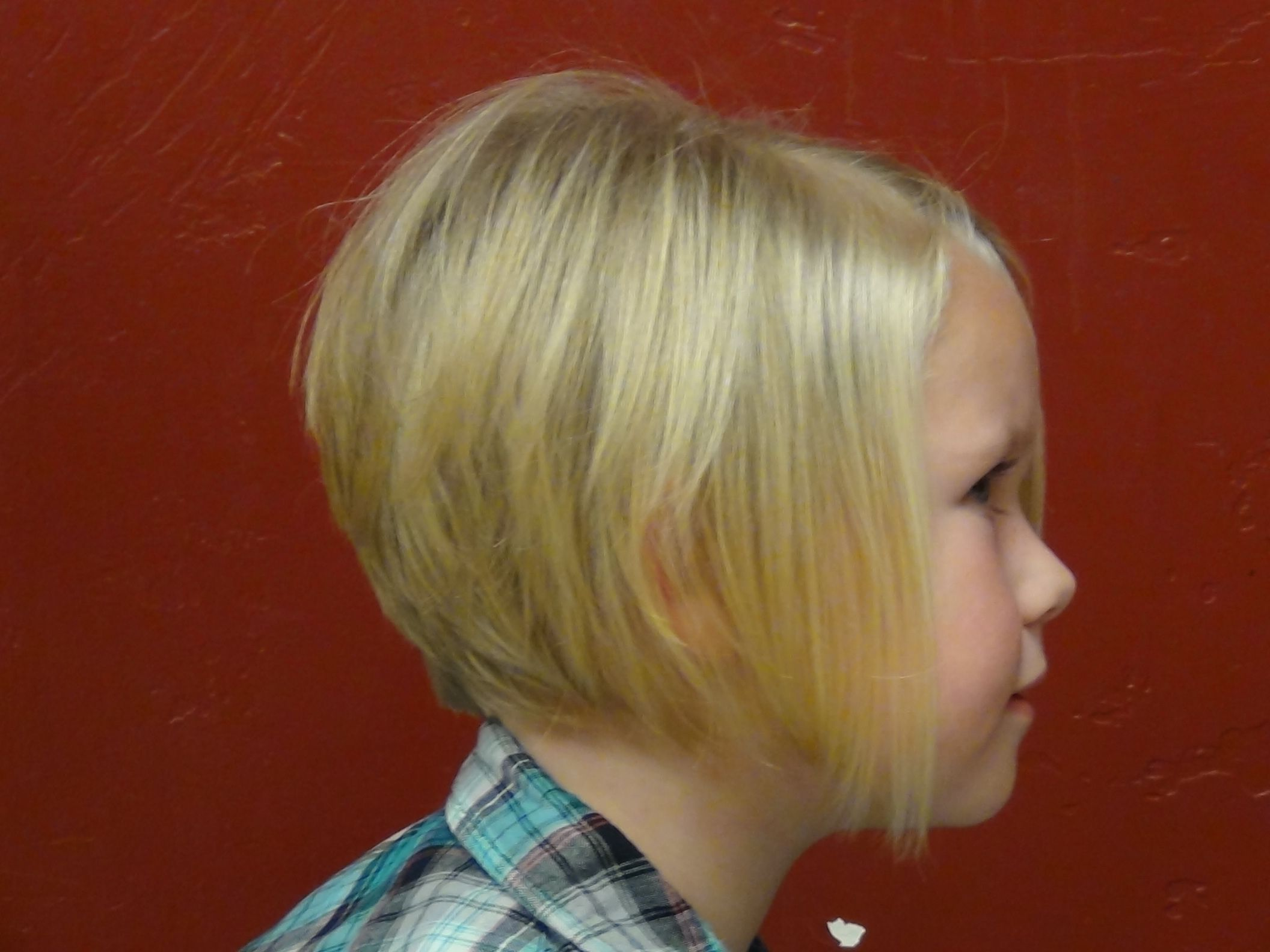 Style A Line HairCut On The Cutest Little Girl's Hair