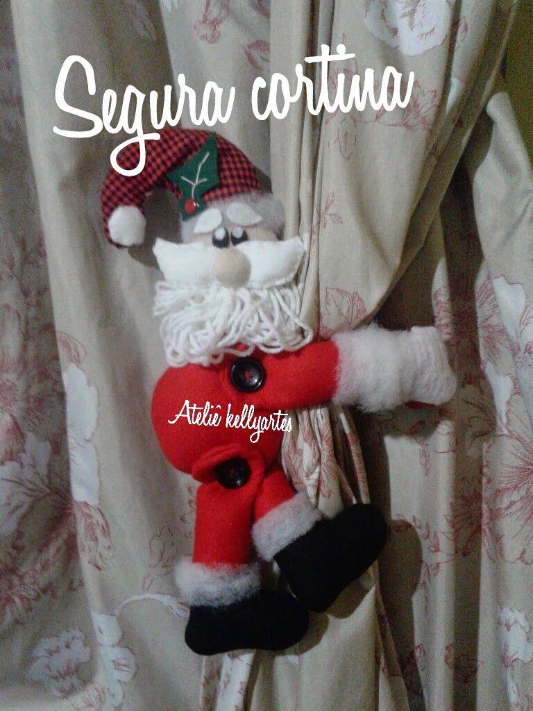 segura cortina este valor é unitário, algodão cru ,enchimento,fechamento com velcro ou fita para amarrar  CASAL 80 reais. rena e papai Noel.ou dois papai Noel.  Deixe sua casa com a alegria do natal
