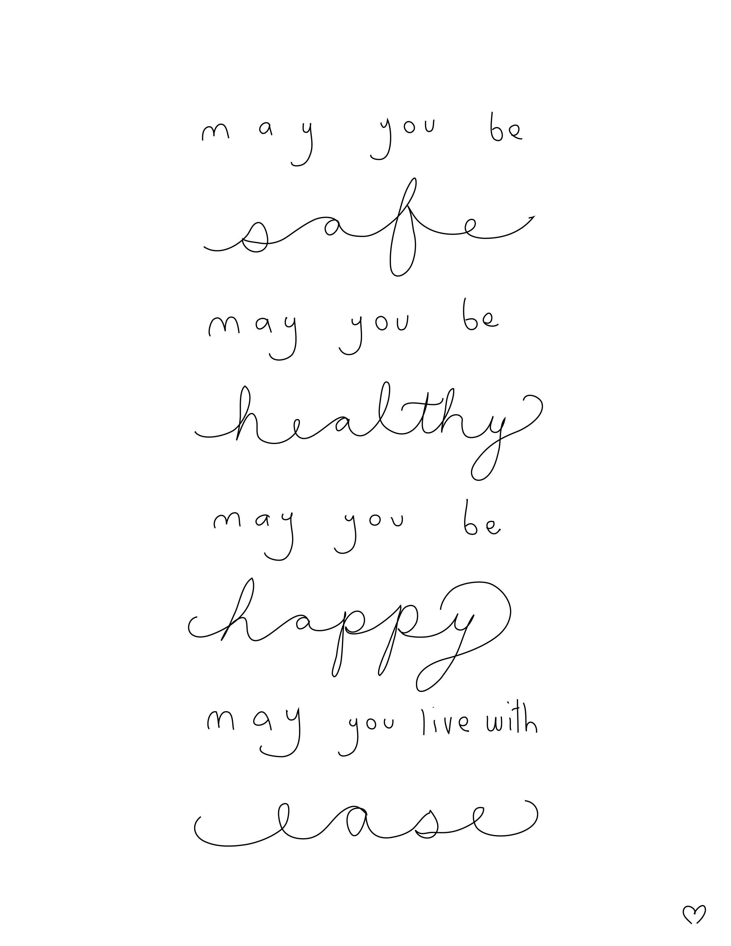 """May you be Safe. May you be Healthy. May you be Happy"