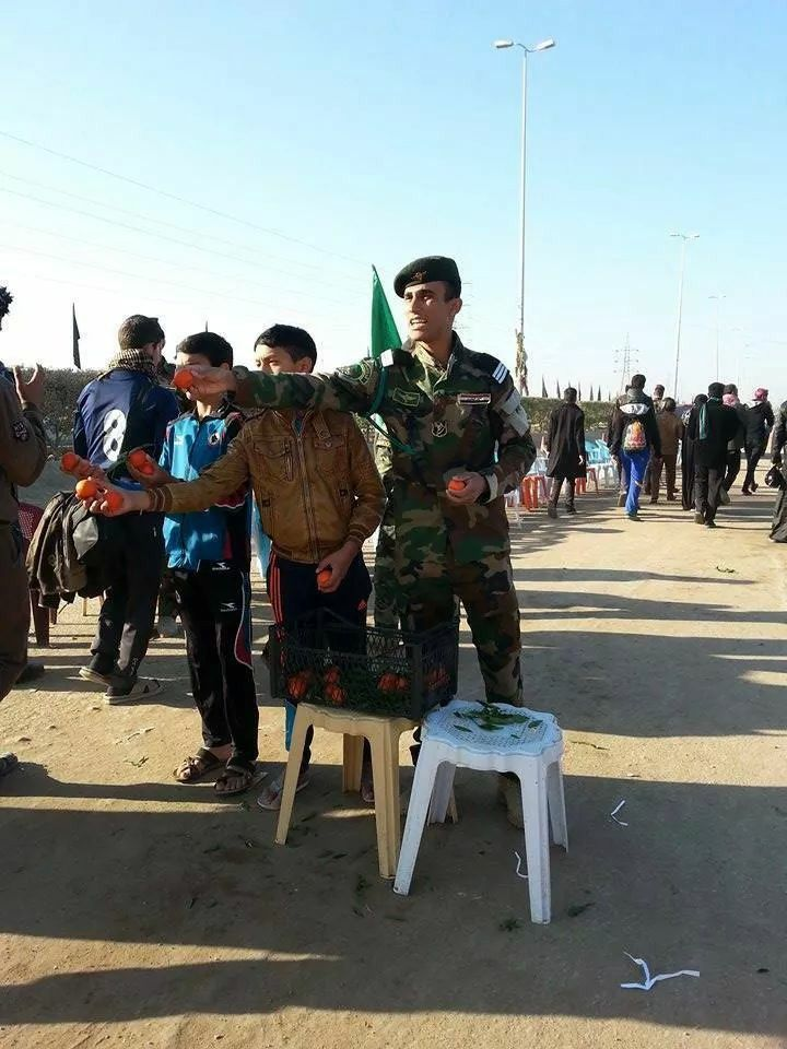 Iraqi army go to my leader Imam Hussein