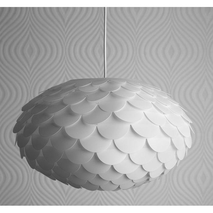 Minisun 46cm Armadillo Plastic Sphere Pendant Shade Reviews Wayfair Uk Pendant Light Shades White Pendant White Lamp Shade