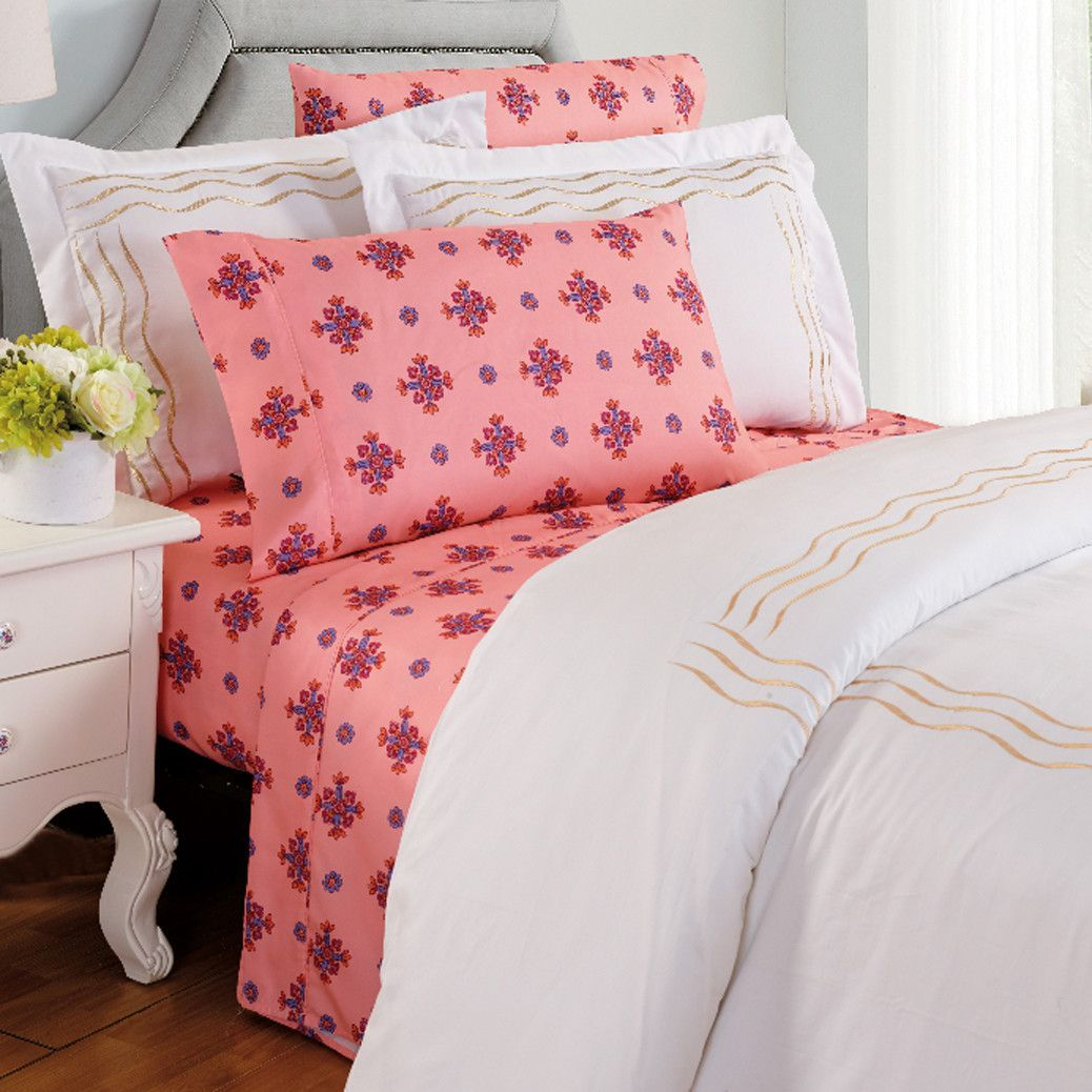 Camellia floral thread count sheet set products pinterest