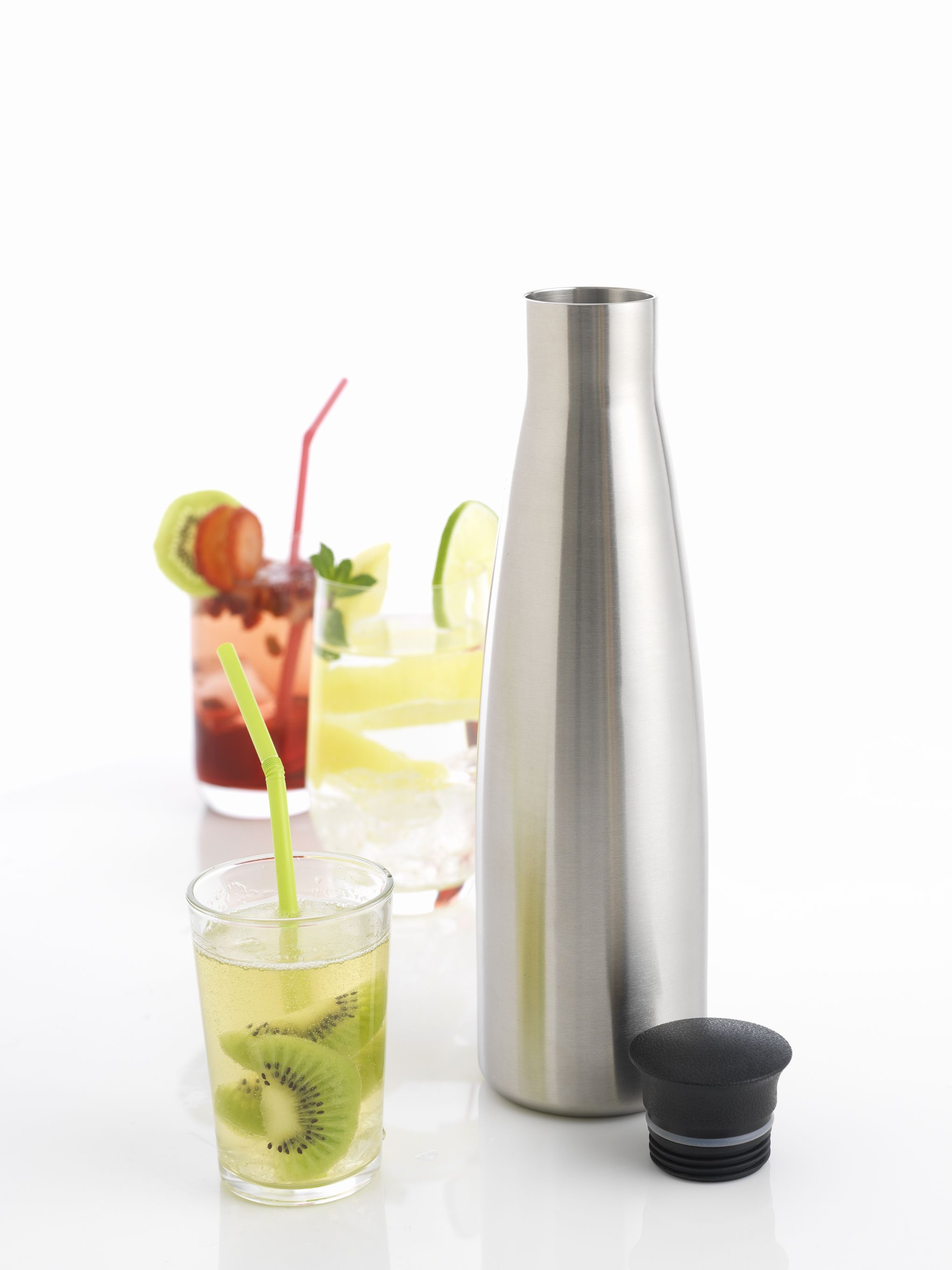 The Mastrad Purefizz Soda Maker-carbonates water, juices, and cocktails.