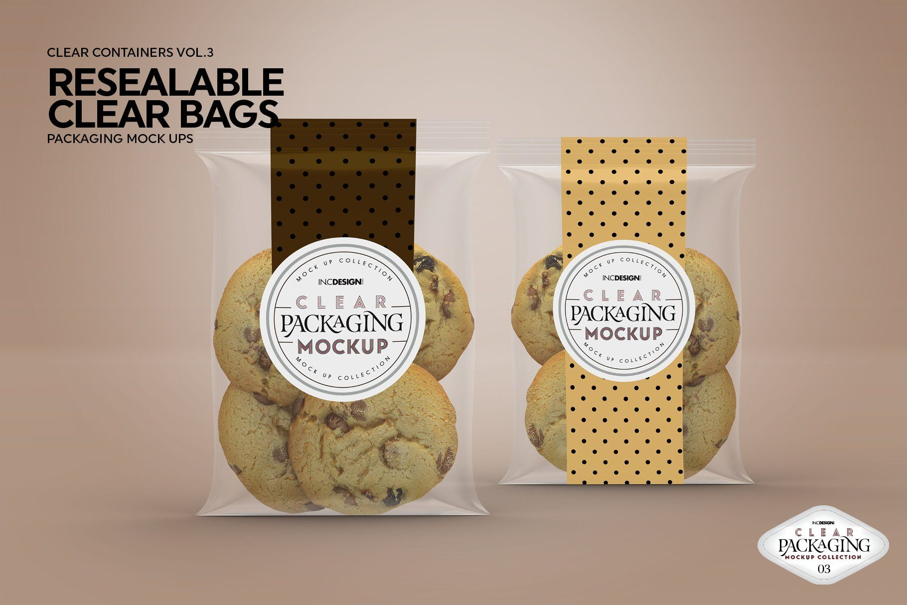 Download Clear Resealable Bags Mockup Bag Mockup Packaging Mockup Food Mockup