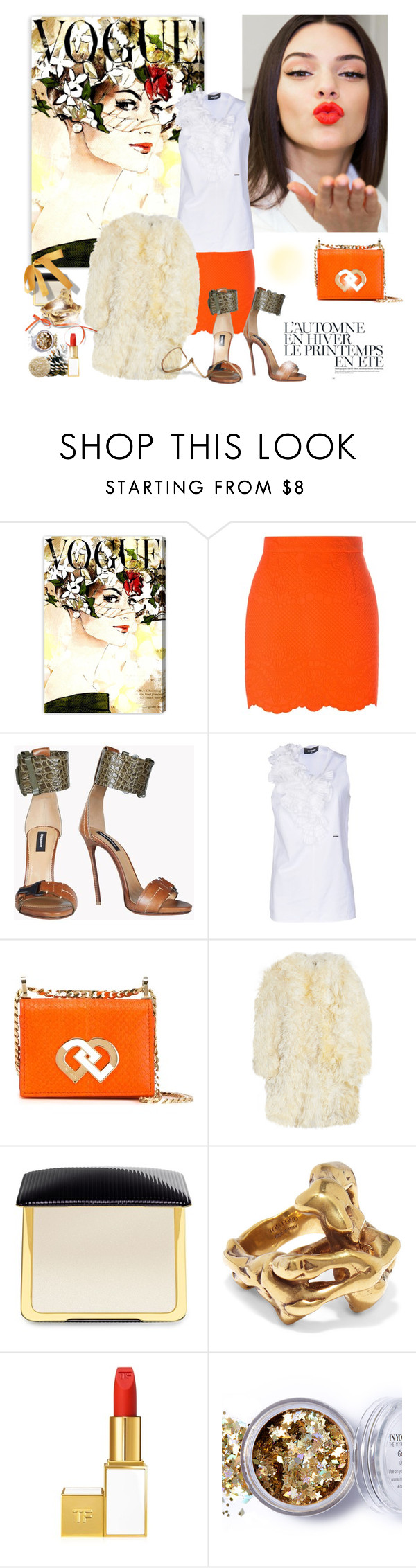 """All Year Long....Sending Love !"" by sue-mes ❤ liked on Polyvore featuring Oliver Gal Artist Co., Estée Lauder, Été Swim, Antonio Berardi, Dsquared2, Yves Saint Laurent, Tom Ford, In Your Dreams and Nails Inc."