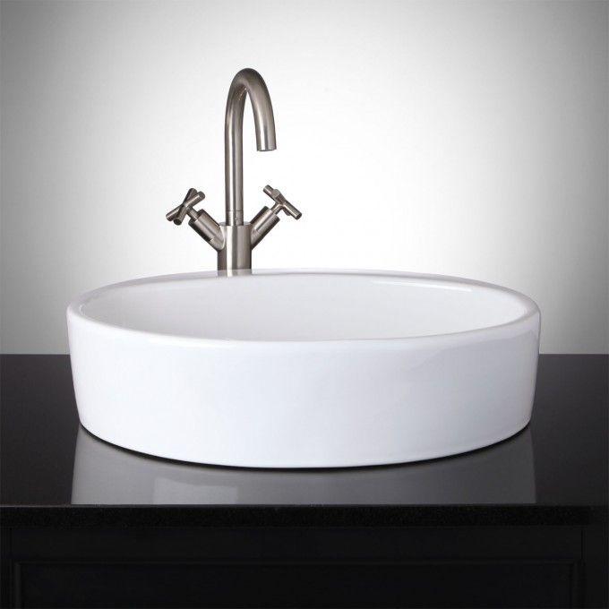 Brooks Oval Porcelain Vessel Sink