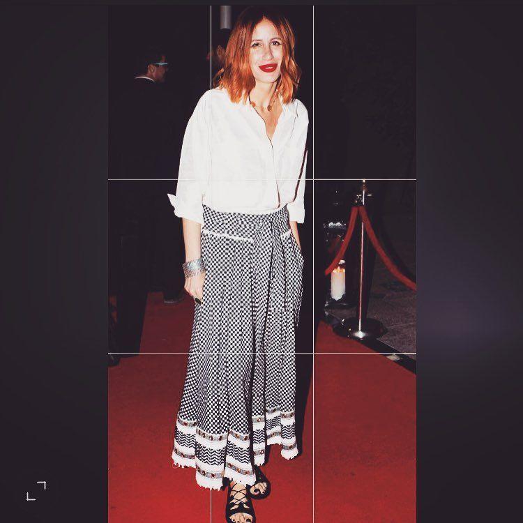 Dodo Bar Or Designer.Israeli Designer Dodo Bar Or In Her Kufiya Design Skirt Not