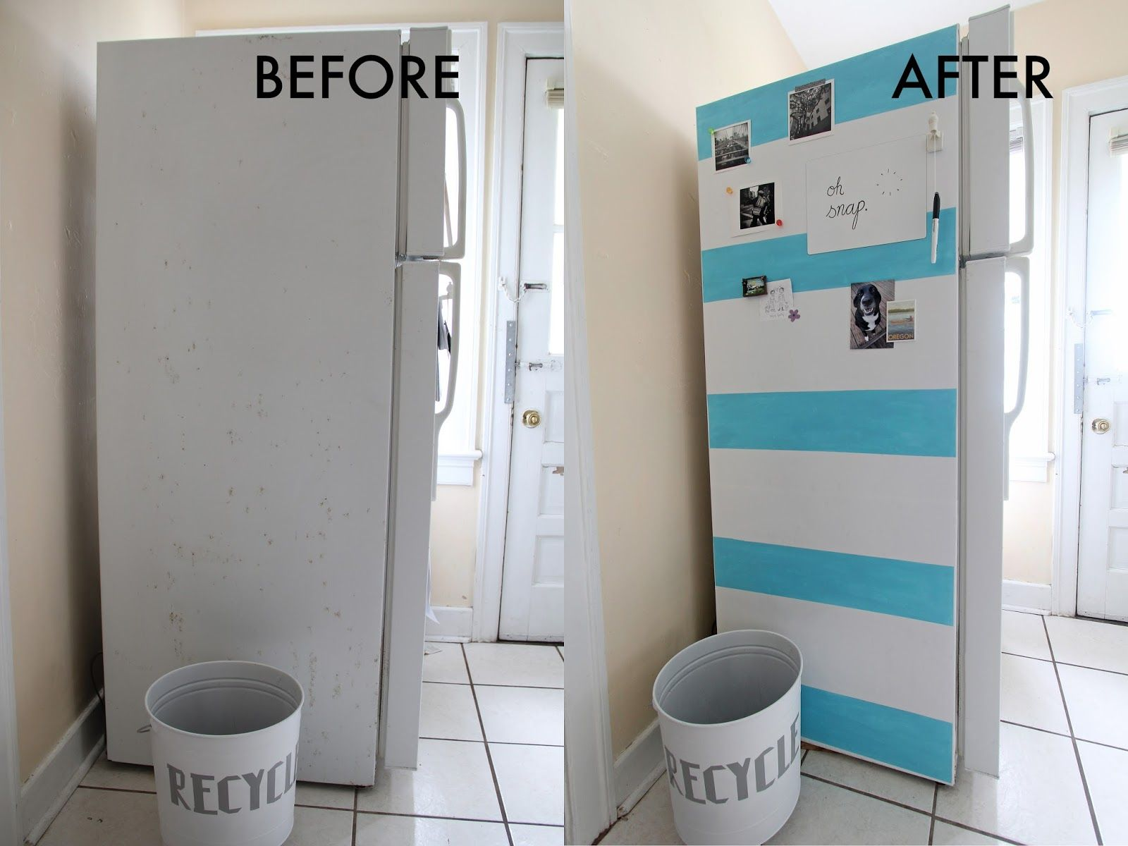 We Can Make Anything: Life Hack // Fridge Makeover love this-- and ...