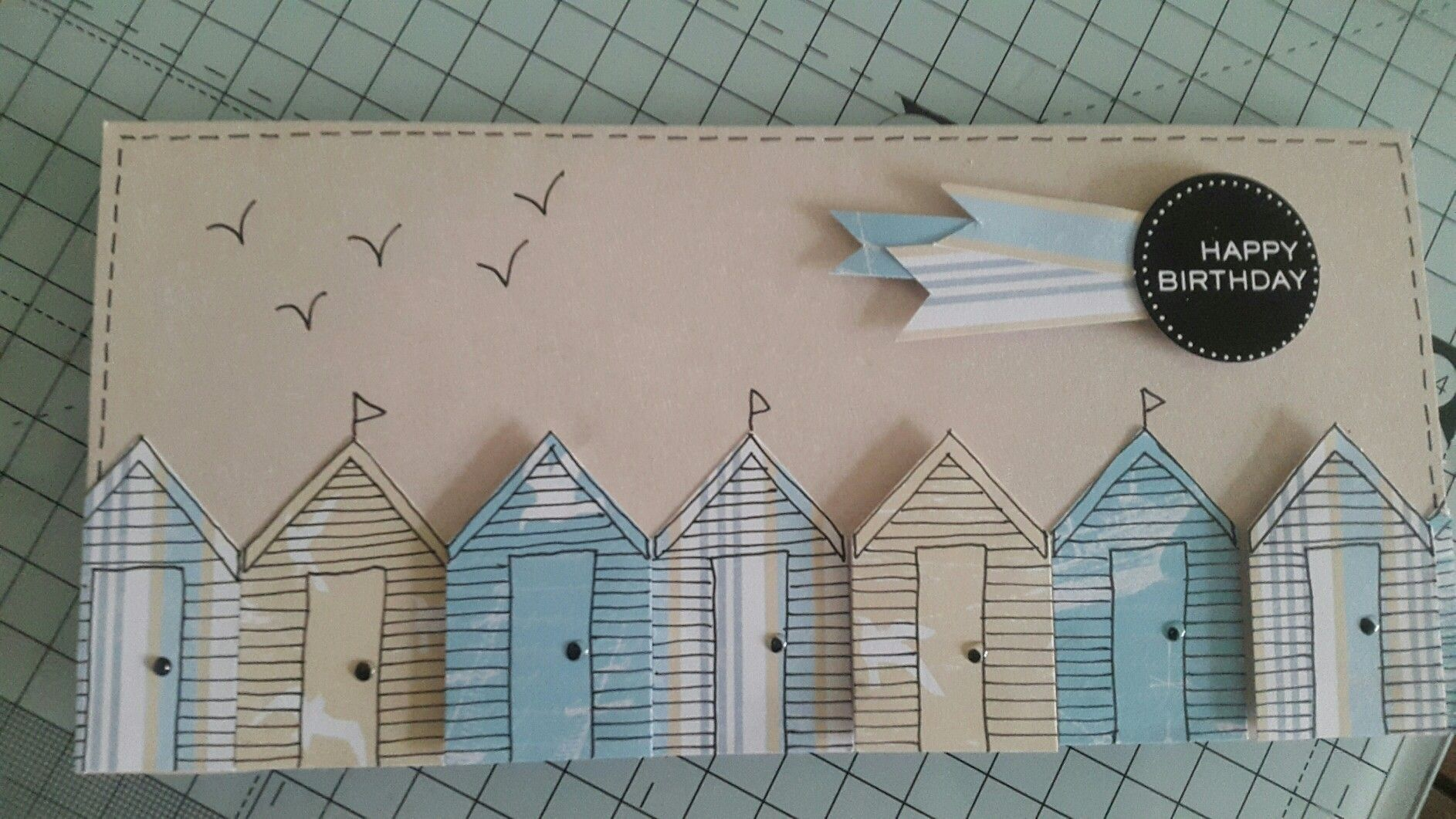 Handmade card by mary gillingham using craft work cards coastal