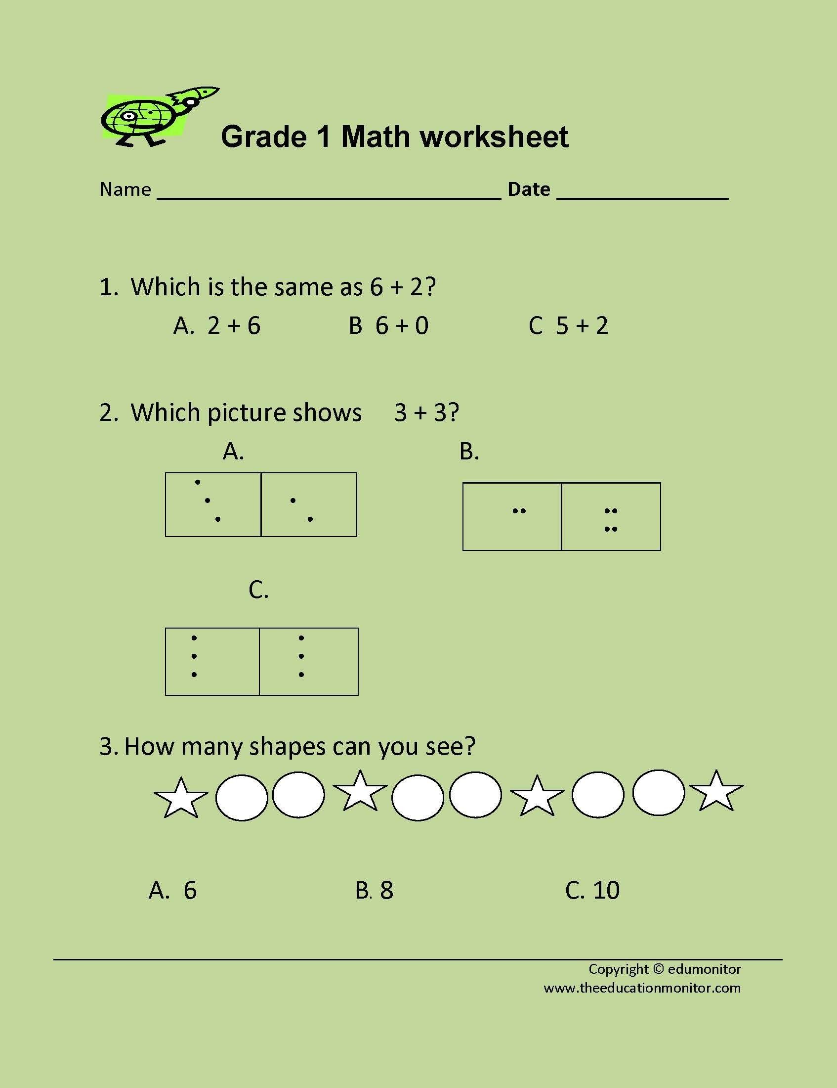 1st Grade Addition Math Worksheets With Images