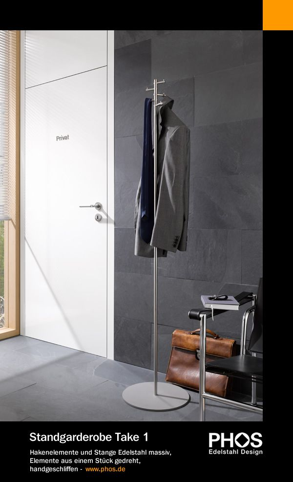 Kleiderständer Edelstahl Design phos edelstahl design standgarderobe take 1 hakenelemente und