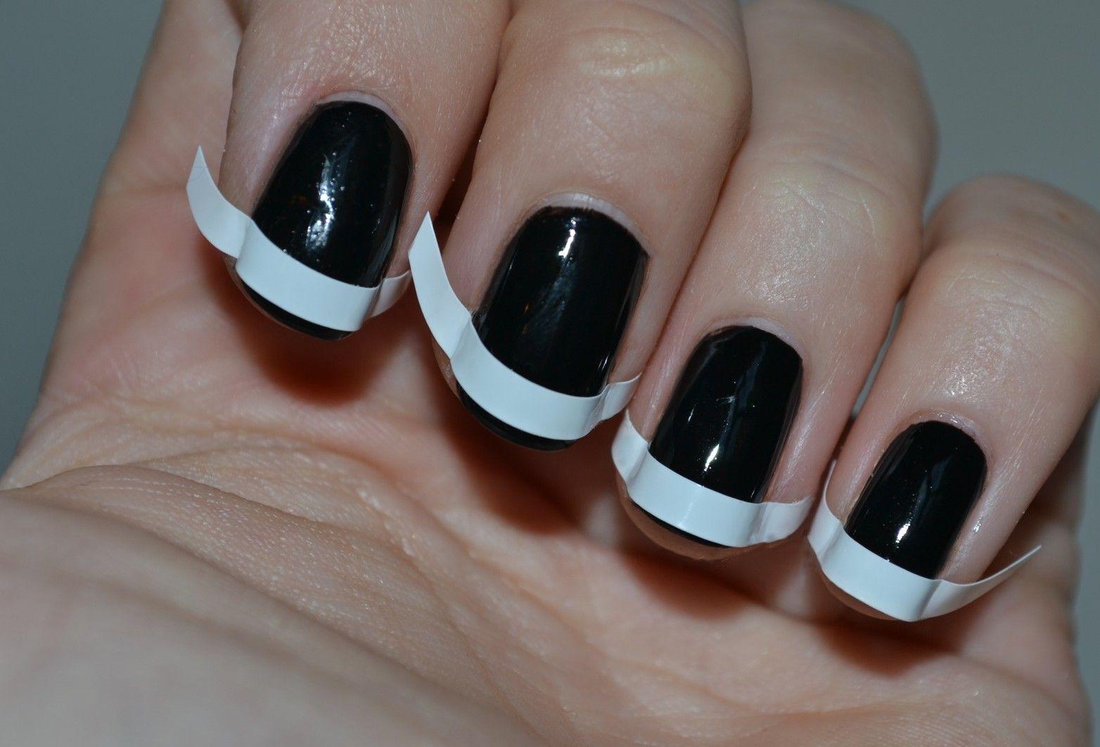Black on Black French Mani  How to use matte finish nail polish How ...