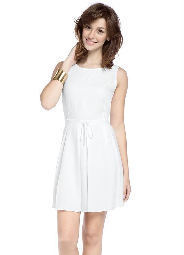 0b2500890 Vestido Mineral Branco - Posthaus | Cosas que ponerse | Vestidos ...