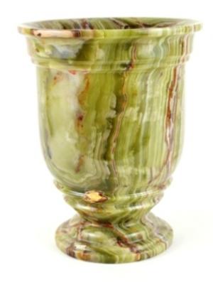 Classic Green Onyx Bathroom Waste Basket. Classic Green Onyx Waste Basket of Series 540-Exotically Unique.