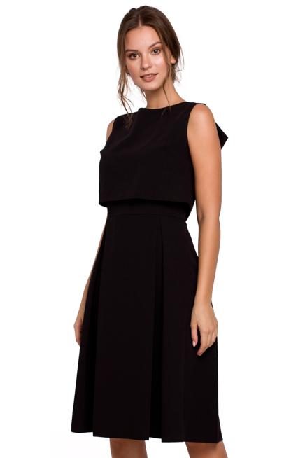 Elegancka Rozkloszowana Sukienka Eksponujaca Plecy Kobieta Odziez Sukienki Sukienki Shop Black Dress Dresses Fashion