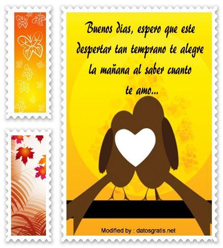 Mensajes De Buenos Dias Mi Amor Para Novios Frases De Amor