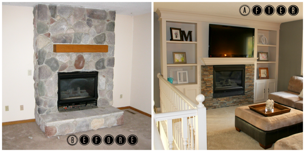 Fireplace Makeovers Before And After Makeover Rh Pinterest Com Renovation Ideas Brick Renovations