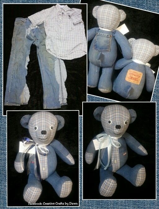 Memory Bears Made From Loved Ones Clothing Find Me On