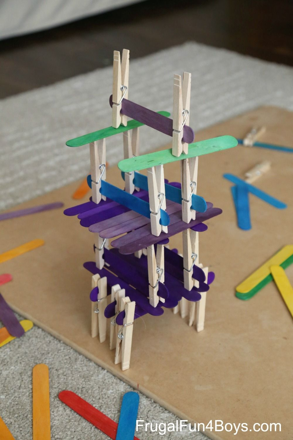 Five Engineering Challenges With Clothespins Binder Clips
