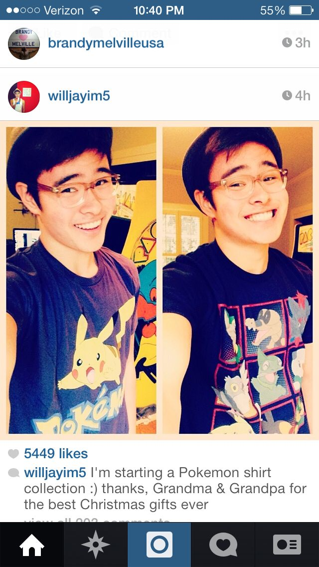 Will is such a cute! ♡ Cute guys, Pokemon shirts, New bands