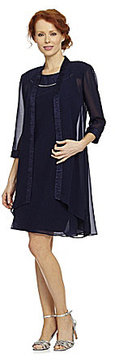 c205d3d4bc30d Dillard s Le Bos Draped Chiffon Jacket Dress on shopstyle.com ...