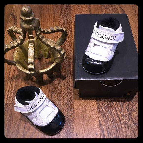 timeless design 0f1e0 9a857 Jordan infant retro 11 concord crib shoes Excellent ...