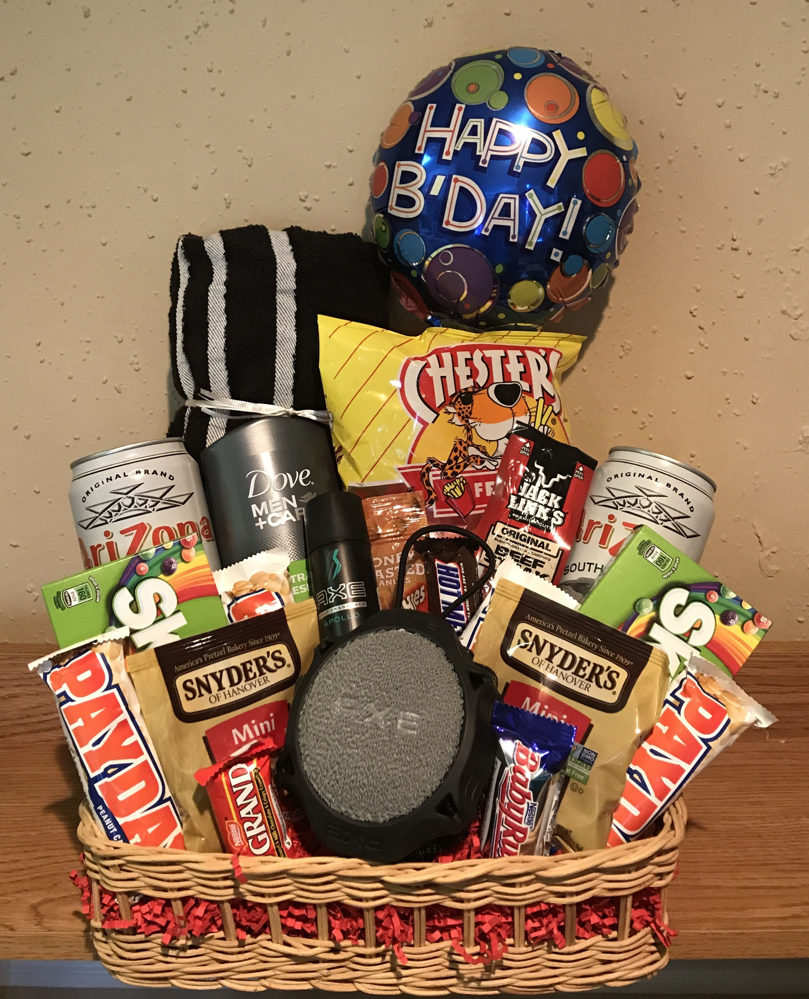Just For Him Gift Basket Diy Gift Baskets Company Gifts Happy
