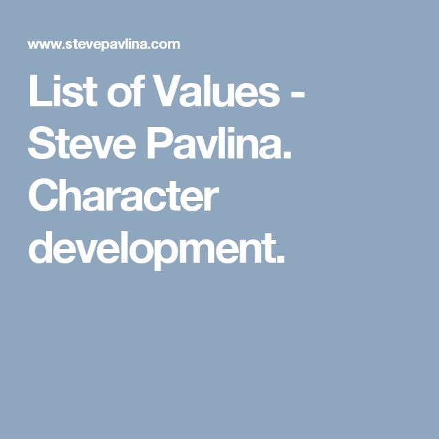 Steve pavlina values