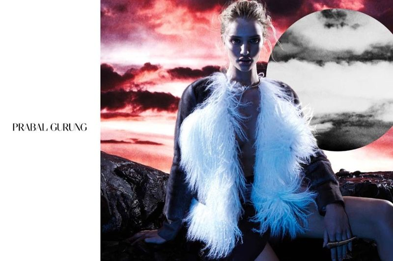I am not sure about you, but I am probably the last person to say that British model Rosie Huntington-Whiteley would ever wear Parabal Gurung never mind be the face of the Fall Winter 2014 campaign...