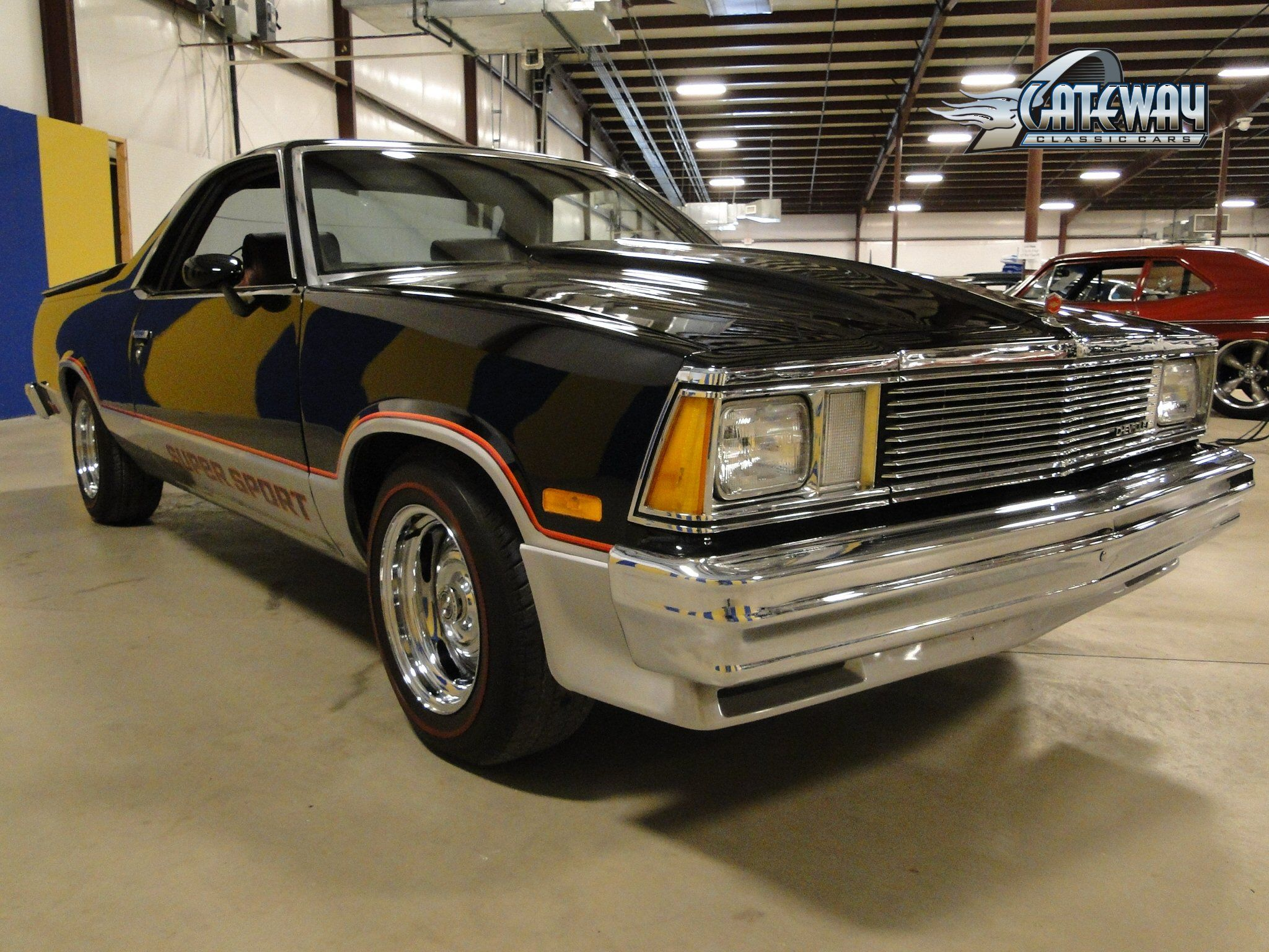 For sale in our louisville kentucky showroom is a black 1981 chevrolet el camino ss 305 cid 350 turbo automatic