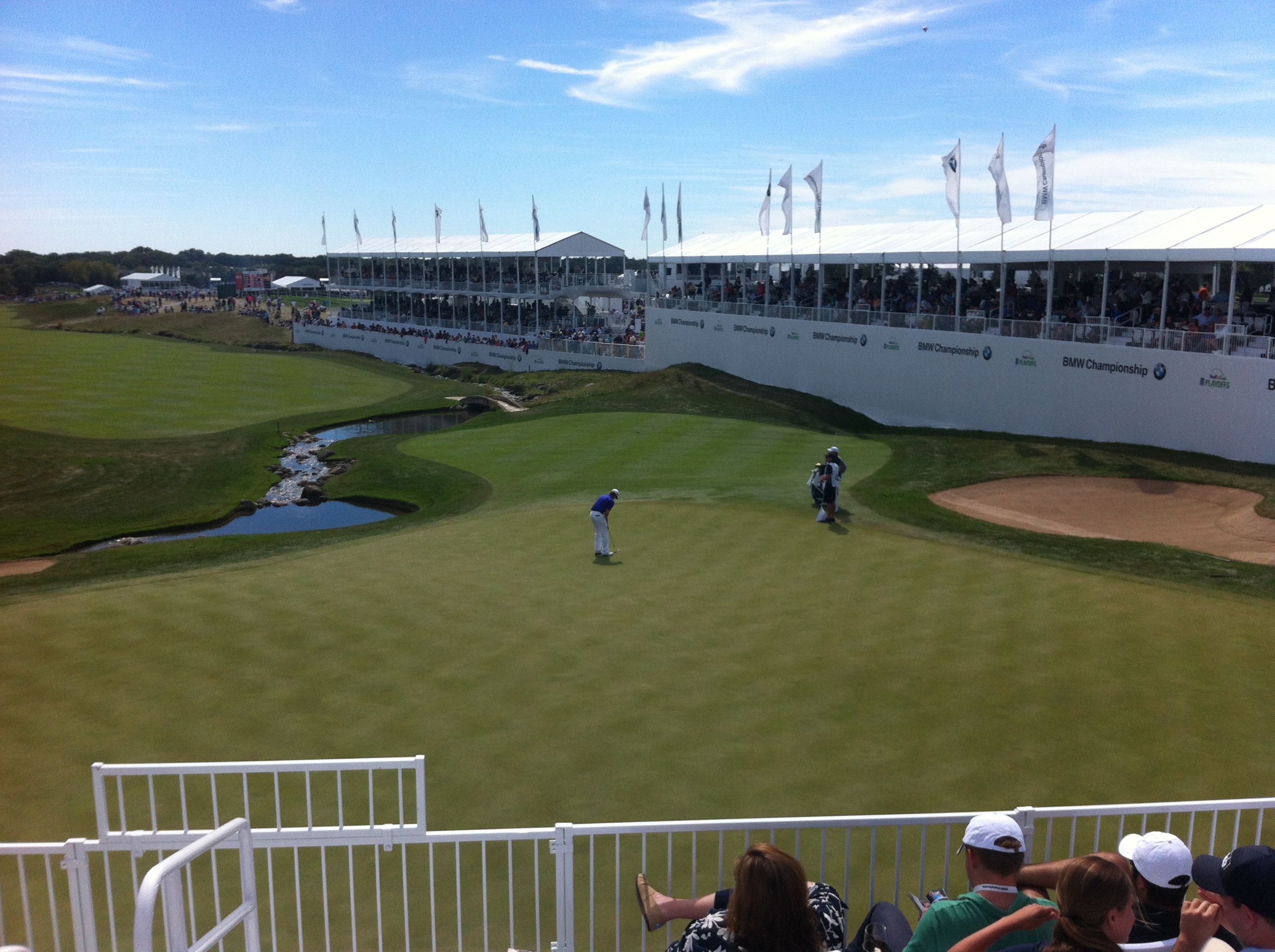 Bmw Championship Conway Farms Lake Forest Il 18th Green World Of Sports Lake Forest Soccer Field