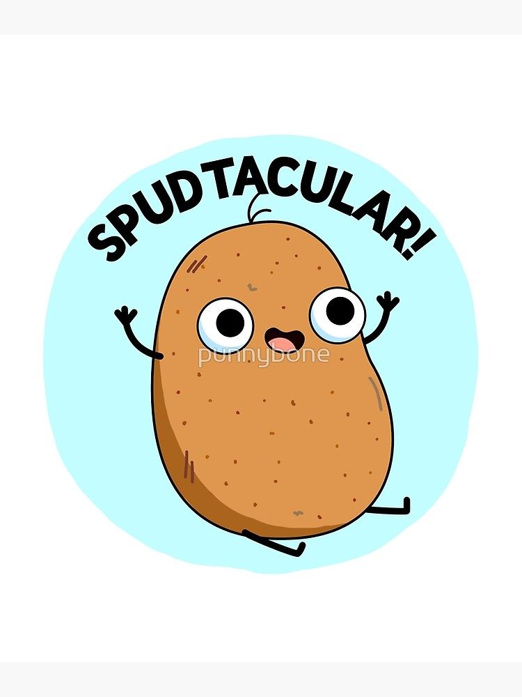 Spudtacular Vegetable Food Pun Photographic Print By Punnybone
