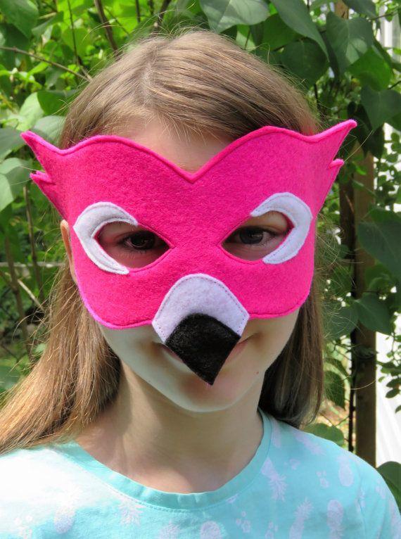 felt flamingo mask bird mask masquerade carnival mardi gras costume halloween. Black Bedroom Furniture Sets. Home Design Ideas