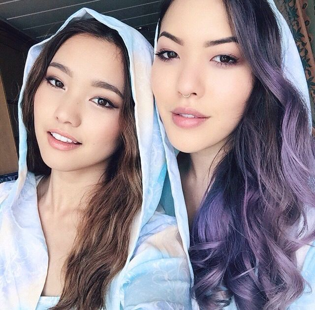 Jenn Im and stephanie villa (@imjennim and @soothingsista instagram picture) I'm are in love with Stephanie's ashy purple hair!!!