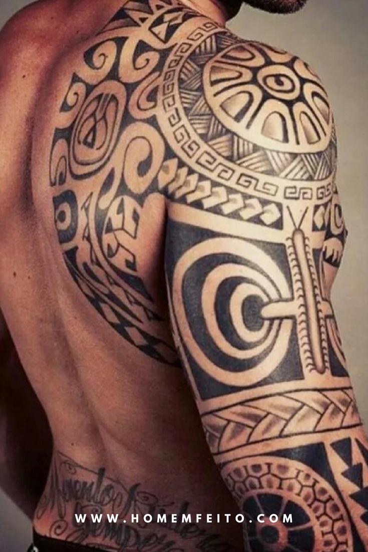 be208b2b9 77 Tatuagens masculinas no Braço com desenho Maori. #Hawaiiantattoos ...
