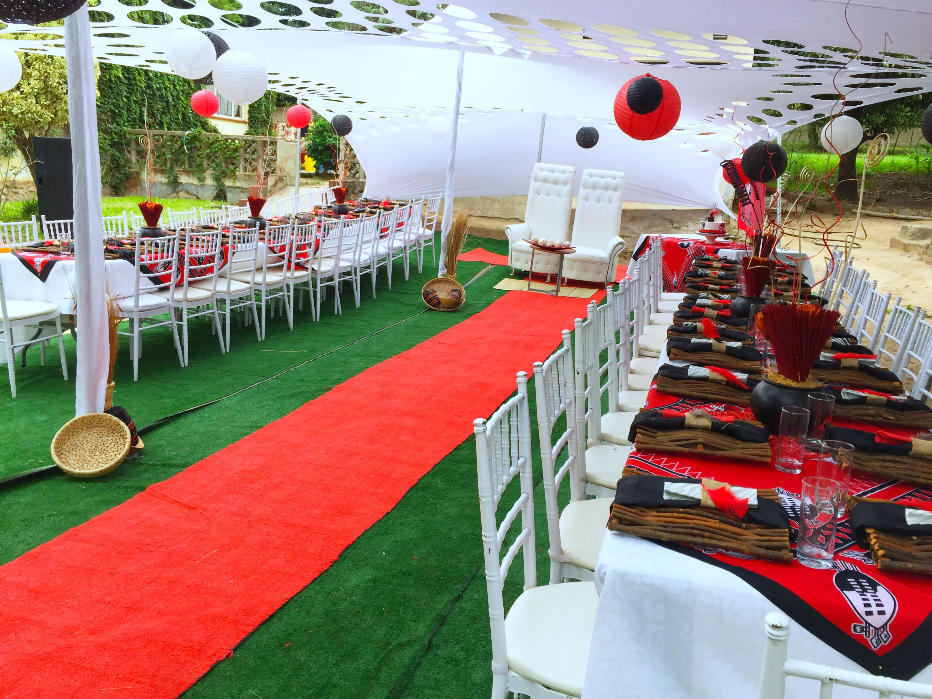 Red Amp Black Swazi Traditional Wedding At Shonga Events