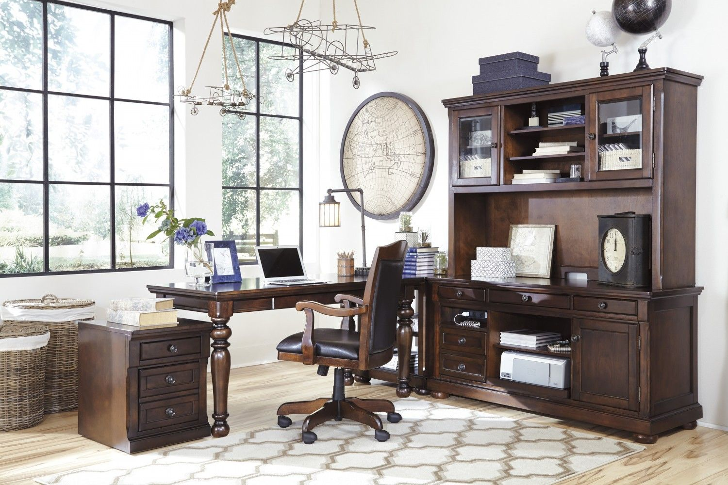 4 Tips To Declutter Your Home Office Ashley Homestore Home Office Furniture Furniture Ashley Furniture Outlet